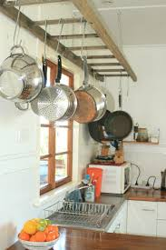 Ladder Pot Rack Or Would Be Really Good In The Laundry Room For Extra Drip Dry Hanging