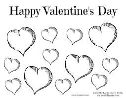 Free Printable Valentines Day Coloring Page Hearts