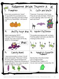Hard Halloween Brain Teasers by Printable Math Game For Halloween U2013 Festival Collections