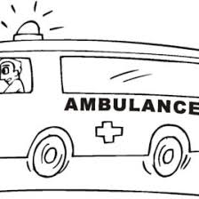 Ambulance Coloring Page Free Printable Pages