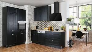 küche alessa einbauküche schwarz matt eiche mit geräten