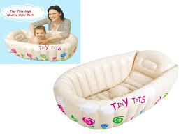 Inflatable Bathtub For Babies by Tiny Tots Inflatable Baby Bath Tub Heat Sensor Sashstime Co Uk