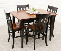 100 Cherry Table And 4 Chairs Camden Shaker Pub With Curlew Dutch Craft Furniture