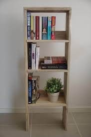DIY Pallet Wood Bookcase Bathroom Storage Unit