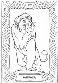 Mufasa Lion King Coloring Page