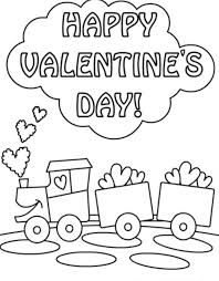 Choco Train Valentine Coloring Pages
