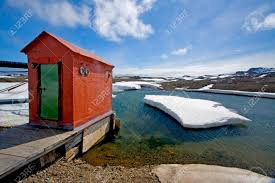 100 Antarctica House Hut Or Out House On A Jetty Near Bellingshausen Station Russian
