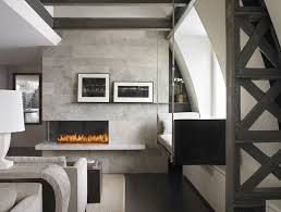 Corner Left Fireplace Modern Living Room Vancouver by