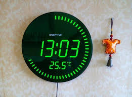 Clocks Battery Operated Wall Clock Outdoor Within Decorations 19