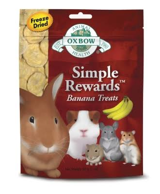 Oxbow Animal Health Simple Rewards Banana Treats - 30g