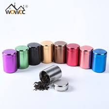WOWCC Tea Caddy Mini Aluminum Storage Boxes Sealed Coffee Powder Cans Leaves Container Portable Travel
