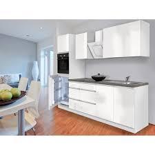 respekta küchenzeile glrp270hww grifflos 270 cm weiß