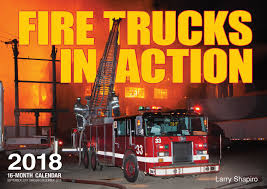 Fire Trucks In Action 2018: 16 Month Calendar Includes September ...