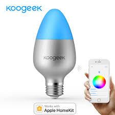 koogeek e26 e27 8w dimmable wifi light smart led bulb 16 million