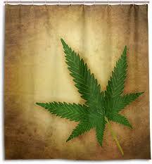 mydaily duschvorhang cannabis marihuana leaf 167 6 x 182 9