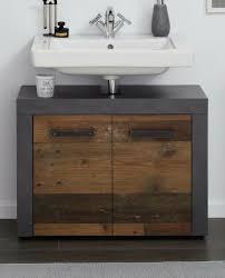 waschbeckenunterschrank used wood grau bad indy waschtisch