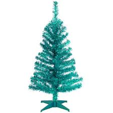 National Tree Company 3 FtTurquoise Tinsel Artificial Christmas