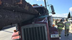 100 Logging Truck Accident Somehow The Guy With All The Logs In His Cab Escaped This Nightmare