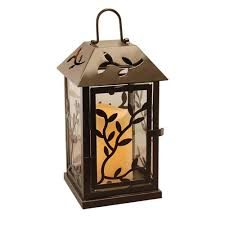 Vintage End Table With Lamp Attached by Torches Lanterns U0026 Candleholders Outdoor Decor The Home Depot