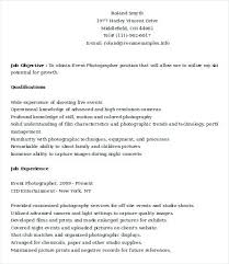 Photographer Resume Examples Sample For Assistant