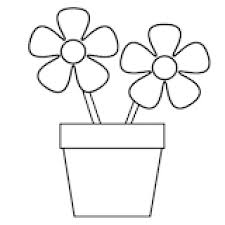 Pot Plant Clipart Colouring Page