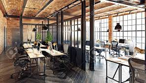 104 Interior Design Loft Modern Office Concept 3d Rendering Stock Photo Picture And Royalty Free Image Image 114224521