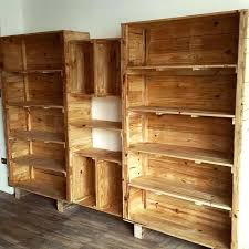 Free Pallet Furniture Plans Shelves For Bigger Storage Easy Projects You Can Do With