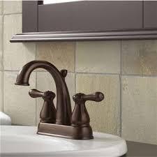 delta faucet delta leland centerset lavatory faucet roman tub