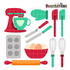 Baking Tools Clip Art Food Cooking Clip Art Baking by DailyArtHub
