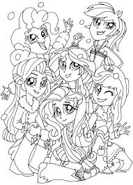 Equestria Girls Coloring Pages Best