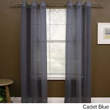 108 Inch Navy Blackout Curtains by Miller Curtains Preston 108 Inch Sheer Grommet Panel 48