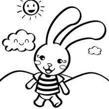 Star Toy Rabbit Coloring Page