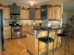 Kitchen Brown Hardwood Floor Tiles Ideas Brick Parquet Pattern Wooden Long Carved White Painted Wood Island