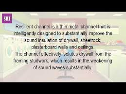 Resilient Channel Ceiling Home Depot by What Is A Resilient Channel Youtube