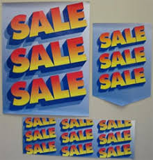 12 Piece Retail Sign Kit Sale
