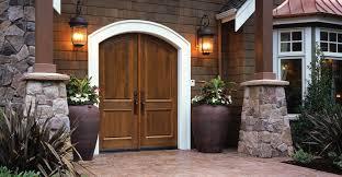 Custom Wood Exterior Doors Example Of Custom Wood Door With Glass