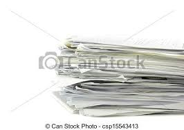 Piled Up Office Work Papers Stock Photo