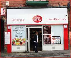 File Clay Cross Derbyshire post office services relocated