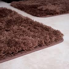 Red Bath Rug Set by Lavish Home 3 Piece Super Plush Non Slip Bath Mat Rug Set