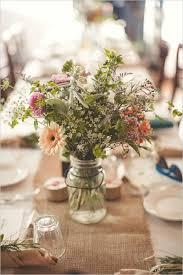 Mason Jar Flowers Wedding Neoteric 10 Rustic Wild In Burlap Ideas