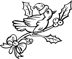 Christmas Tree Coloring Books by Birds On A Christmas Tree Coloring Pages Pages For Kids