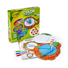 bureau d angle avec ag es crayola color spinout spin with markers gift ages 5 6 7 8