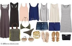 Travel Packing Checklist Beach Holiday Outfits What To Pack For A