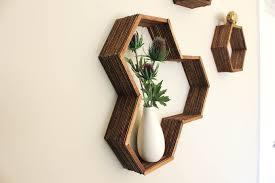 DIY Honeycomb Shelves Popsicle Sticks 4