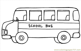 Picture Bus Coloring Page 27 With Additional Free Book