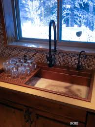 Retrofit Copper Apron Sink by Workstation Copper Sinks With Cutting Boards And Copper Grid Drains