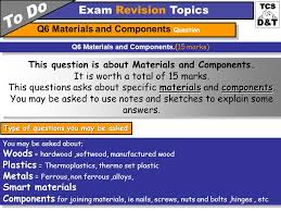 gcse resistant material theory examination things to remember 40