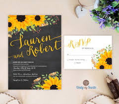 21 Sunflower Wedding Invitation Templates Free Sample Example