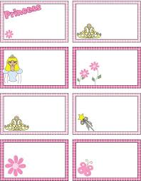 FREE PRINCESS GIFT TAGS OR PLACE SETTING CARDS Princess Coloring Pages
