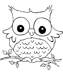 Coloring Pages For Kids Online Owl